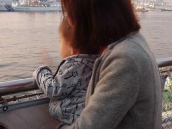 大さん橋にて